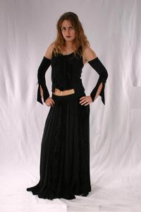 1209 Hippy Full Length Viscose Skirt. 6 Colours available. By Bares and Folio-gothichippy